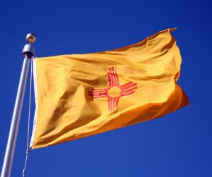New Mexico State Flag Flying