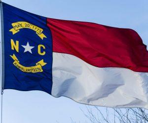North Carolina State Flag Flying