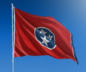 Tennessee State Flag Flying