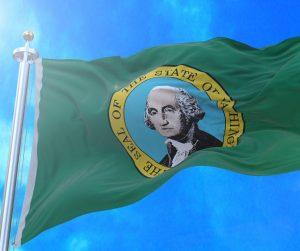 Washington State Flag Flying