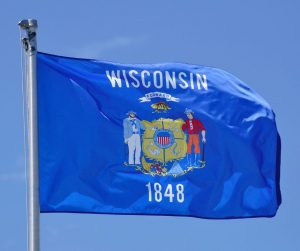 wisconsin State Flag Flying