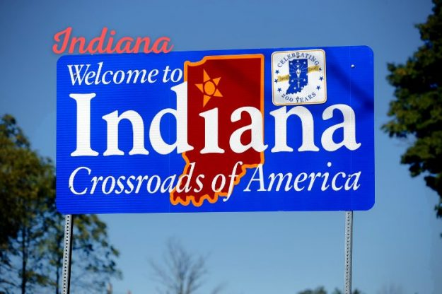 Indiana State Sign