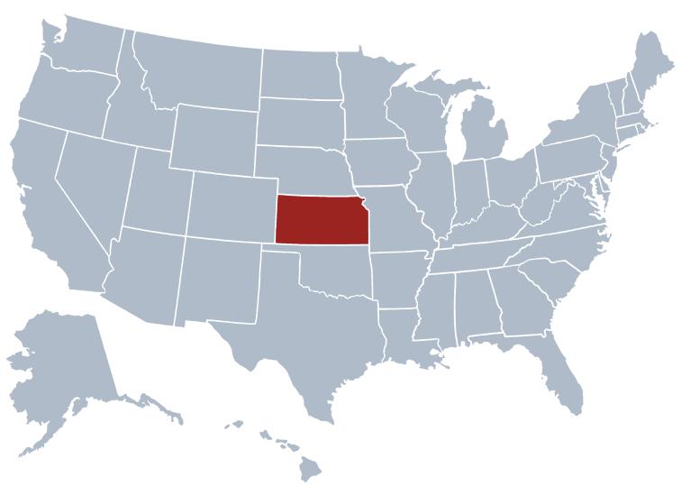 kansas on a US map