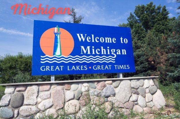 Michigan state header