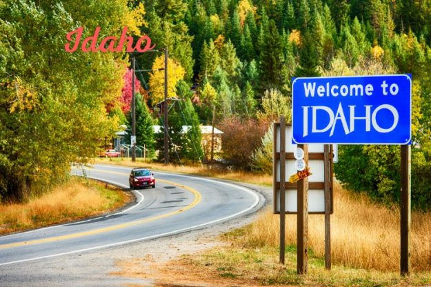 Idaho state sign