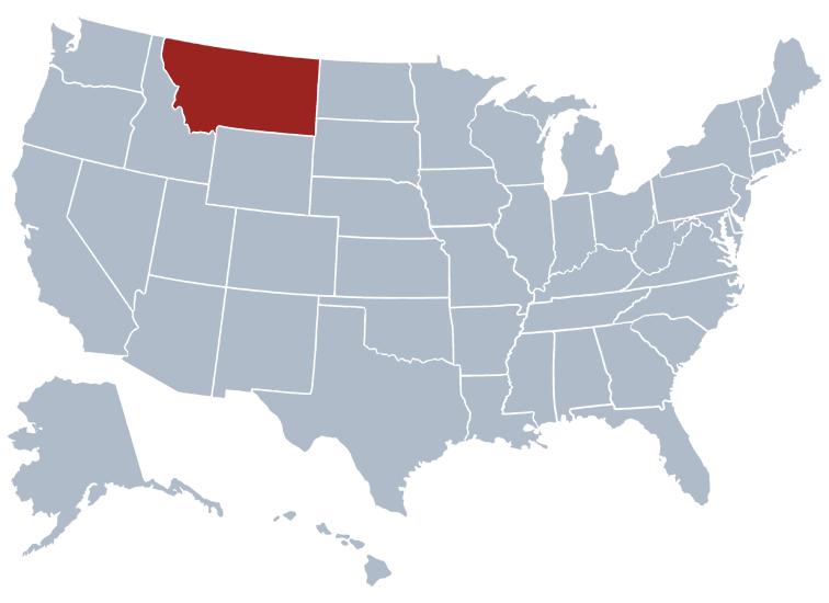 Montana on a US map