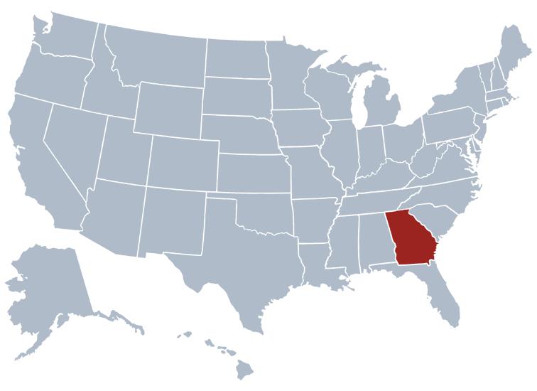 georgia on a map