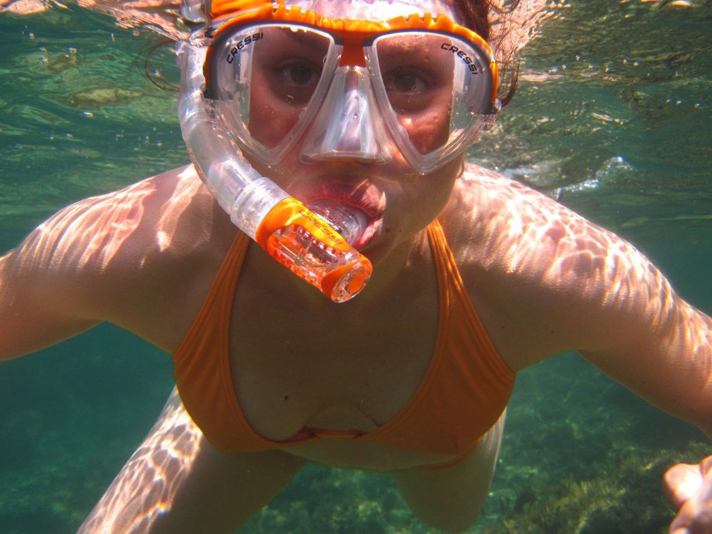 Woman snorkeling at Dry Tortugas National Park