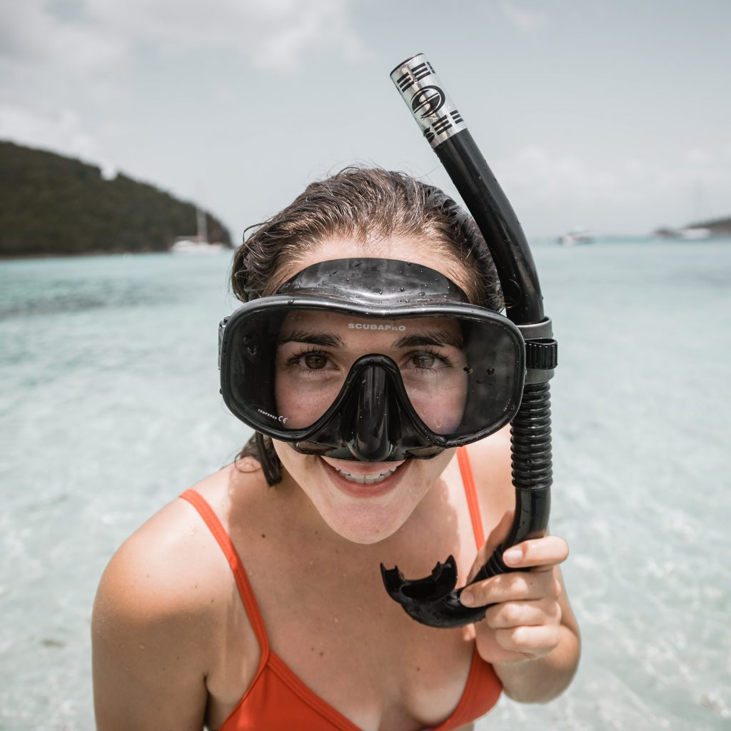 Woman snorkeling in the Northern Mariana Islands