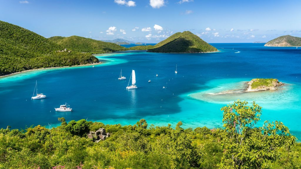 Crystal Clear waters of the US Virgin Islands