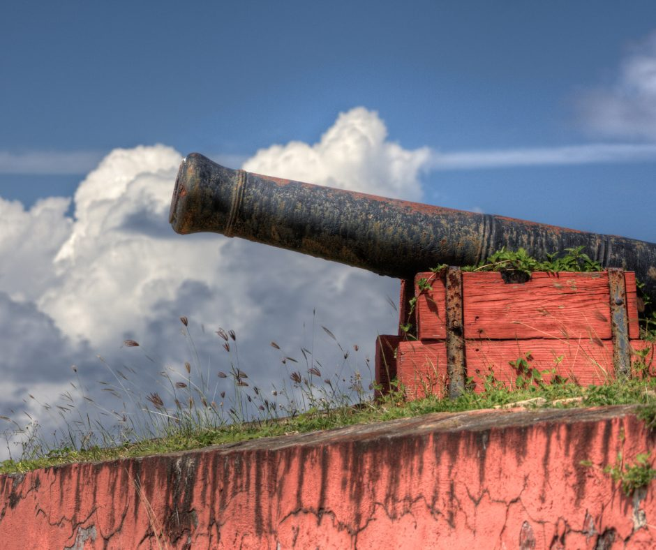 Canon at Fort Frederik in St. Croix
